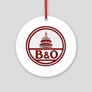 B&O railroad design Round Ornament