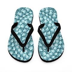 Blue Bubble Pinpoint Flip Flops