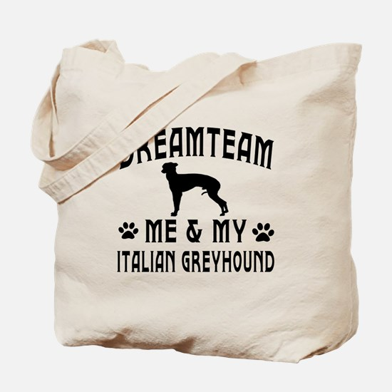 Italian Greyhound Dog Designs Tote Bag