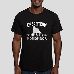 Komondor Dog Designs Men's Fitted T-Shirt (dark)