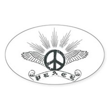 Peace Wing Classic Oval Sticker