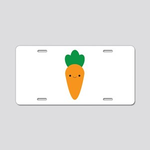 Carrot Aluminum License Plate