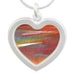 Atom Sea #21 Silver Heart Necklace