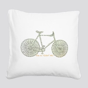Ride to FIGHT MS! Square Canvas Pillow