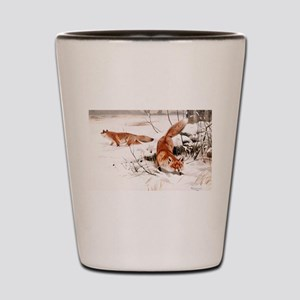 Red Fox in the Snow Shot Glass