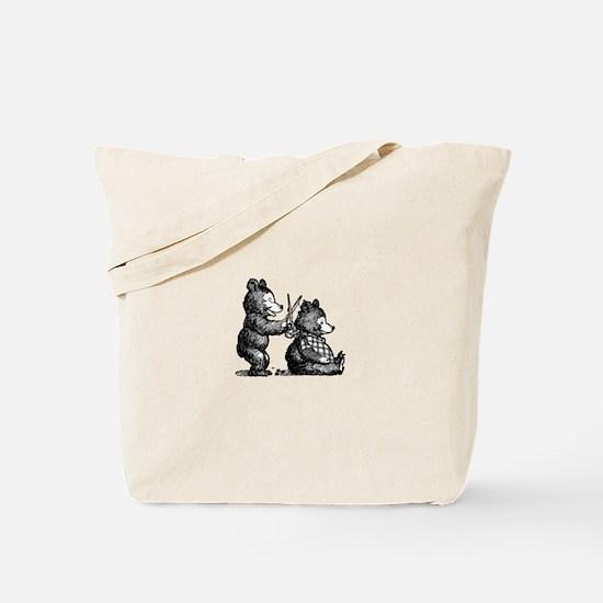Beary Nice Haircut Tote Bag