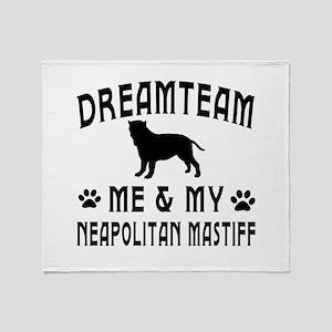 Neapolitan Mastiff Dog Designs Throw Blanket