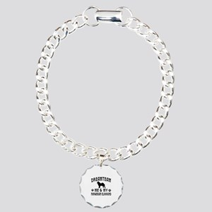 Norwegian Elkhound Dog Designs Charm Bracelet, One