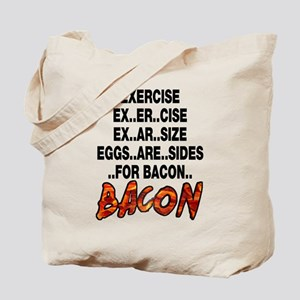 Exercise Eggs Are Sides Bacon Tote Bag