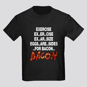 Exercise Eggs Are Sides Bacon Kids Dark T-Shirt