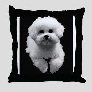 Beau in Black Throw Pillow