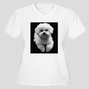 Beau in Black Women's Plus Size V-Neck T-Shirt