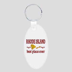 Rhode Island Best Aluminum Oval Keychain