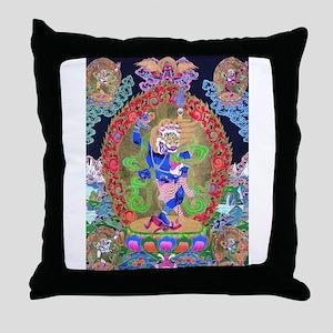 Tibetan Thangka Simhavaktra Dakini Ti Throw Pillow