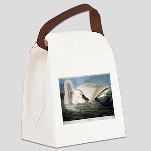 J J Audubon - Swan Canvas Lunch Bag