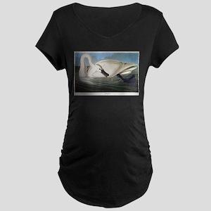 J J Audubon - Swan Maternity T-Shirt