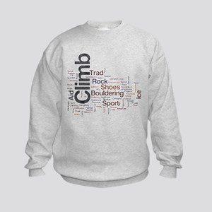 Climbing Word Sweatshirt
