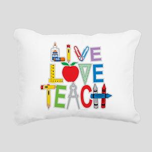 Live-Love-Teach Rectangular Canvas Pillow