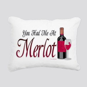 You-Had-Me-At-Merlot Rectangular Canvas Pillow