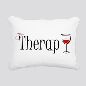Wine-My-Therapy Rectangular Canvas Pillow