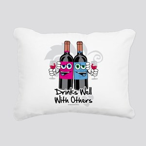 Drinks-Well-With-Others Rectangular Canvas Pil