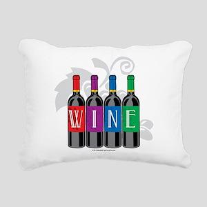 Wine-Bottles Rectangular Canvas Pillow