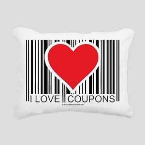 I-Love-Coupons Rectangular Canvas Pillow