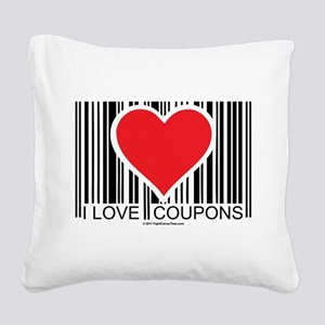 I-Love-Coupons Square Canvas Pillow