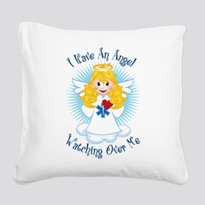 Angel-Watching-Over-Me-EMT Square Canvas Pillo