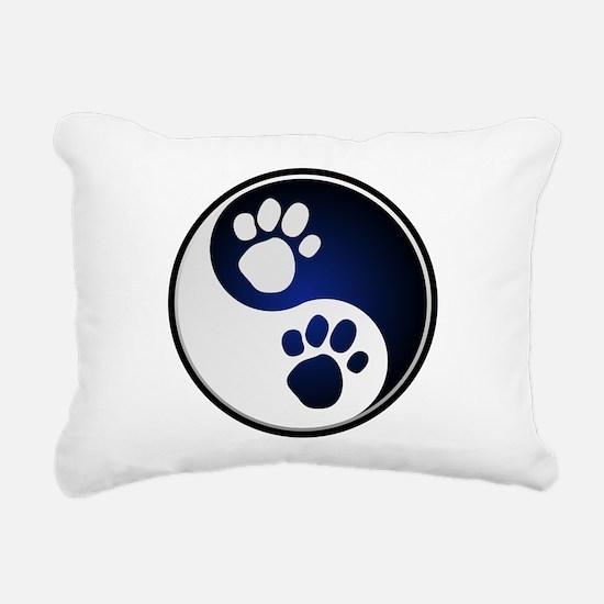 Paw Ying Yang.png Rectangular Canvas Pillow