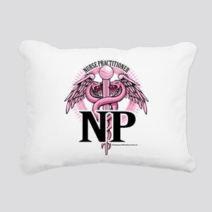 NP-PINK-Caduceus Rectangular Canvas Pillow