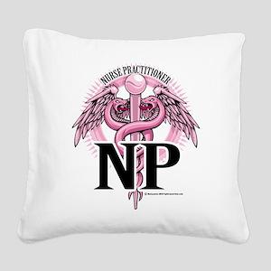 NP-PINK-Caduceus Square Canvas Pillow