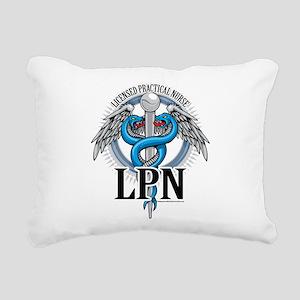 LPN-Caduceus-BLue Rectangular Canvas Pillow
