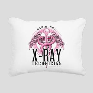 X-Ray-Tech-Pink-Caduceus Rectangular Canvas Pi