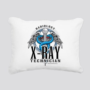 X-Ray-Tech-Caduceus Rectangular Canvas Pillow