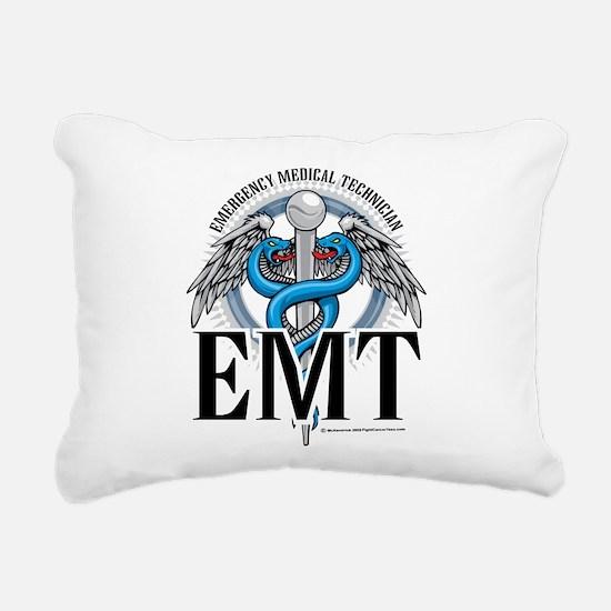 EMT-Caduceus-Blue.png Rectangular Canvas Pillow