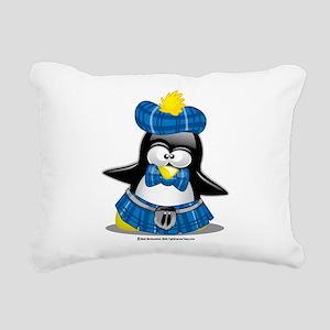 Scottish-Penguin-Blue-2009 Rectangular Canvas