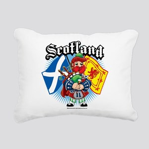 Scotland-Flags-and-Piper Rectangular Canvas Pi