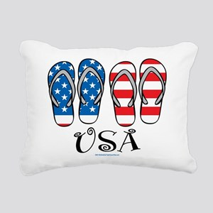 USA-Flip-Flops Rectangular Canvas Pillow