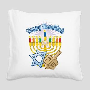 Hanukkah Square Canvas Pillow