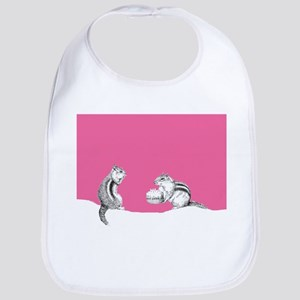 Pink chipmunks Bib