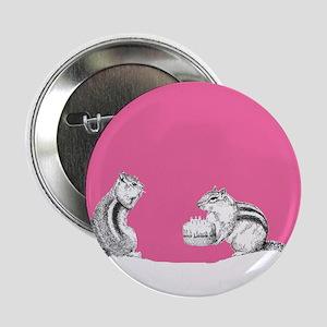 """Pink chipmunks 2.25"""" Button"""
