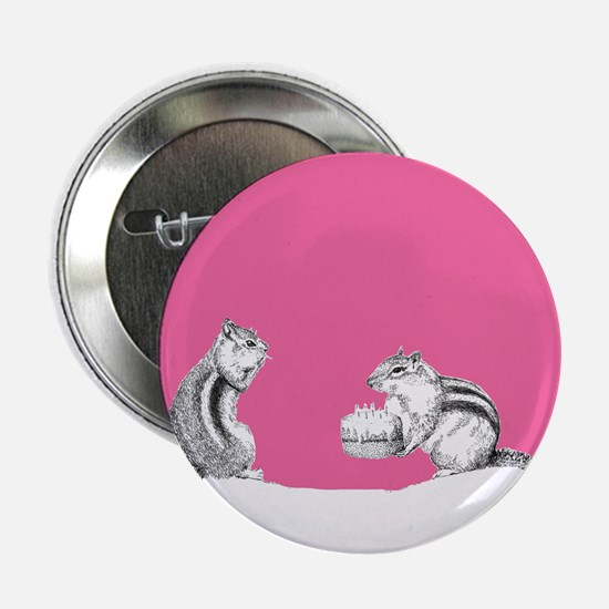 "Pink chipmunks 2.25"" Button"
