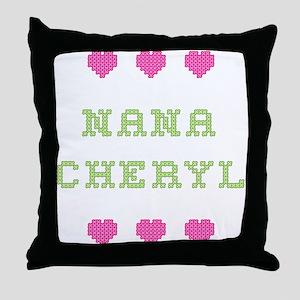 Nana Cheryl Throw Pillow