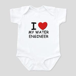 I Love water engineers Infant Bodysuit