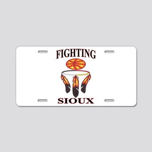 FIGHTING SIOUX Aluminum License Plate