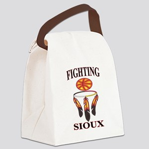 FIGHTING SIOUX Canvas Lunch Bag