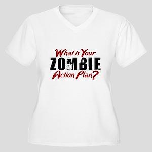 Zombie Action Plan Plus Size T-Shirt