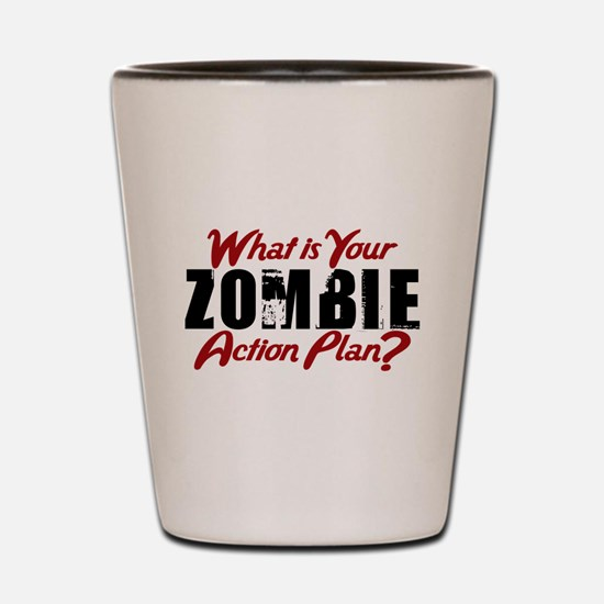 Zombie Action Plan Shot Glass