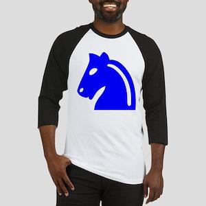 Blue Knight Chess Piece Baseball Jersey